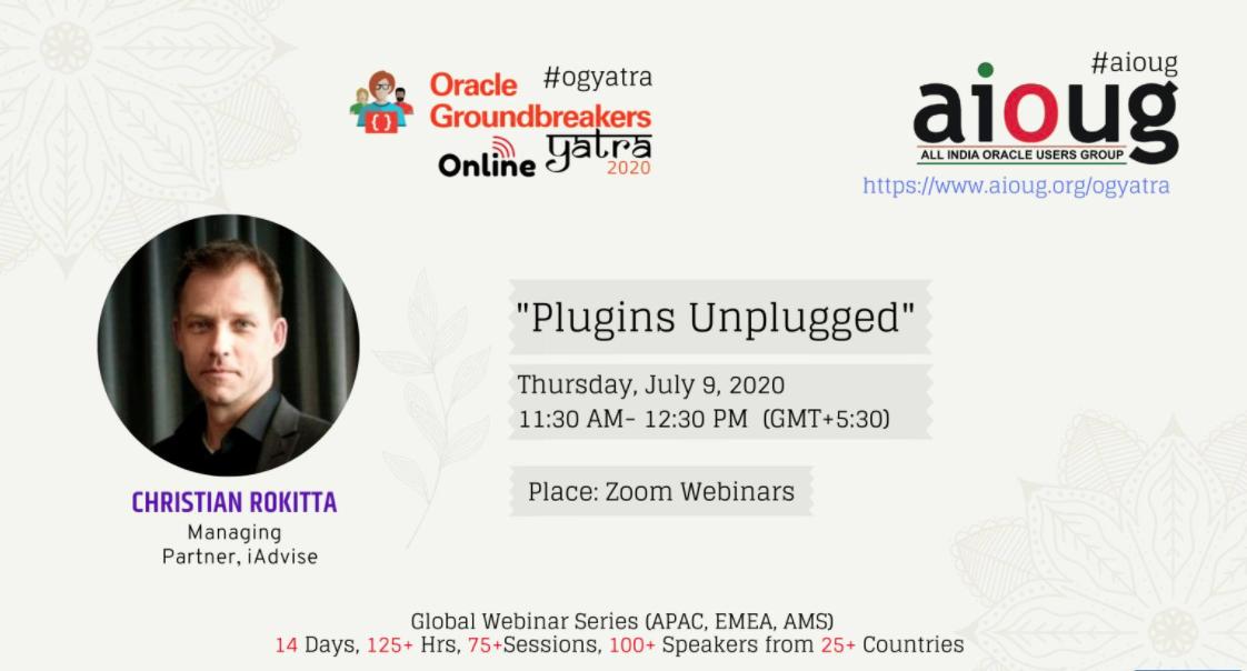 APEX Plug-ins Unplugged -Christian Rokitta